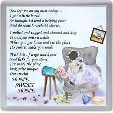 "Maltese Dog Coaster ""HOME SWEET HOME Poem ...."" by Starprint"