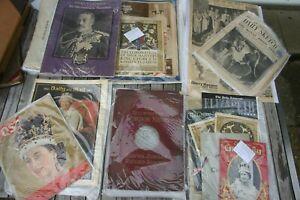 Job lot Of  Vintage Royal Family Memorabilia Magazines Newspapers coronations