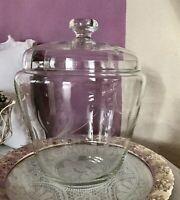 Antik Kristallglas Bleikristall Bowle-Topf Art Déco 30er 40er Schliff
