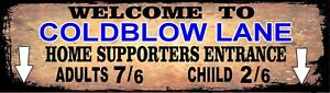 Retro Cold Blow Lane Sign, Football sign, Millwall FC sign. Retro wall sign