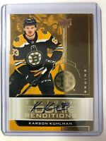 2019-20 Upper Deck Trilogy Rookie Renditions GOLD Karson Kuhlman Auto