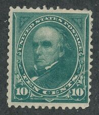 USA Webster 10 Cent mint stamp MH Fault tear (lotb374)