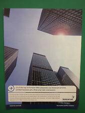 9/2007 PUB INMARSAT MOBILE SATELLITE IN-FLIGHT COMMUNICATIONS BUSINESS JET AD