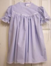 GIRL'S SIZE 1T~CLASSIC HEIRLOOM DRESS~ROUND YOKE~FRENCH LACE~SILK RIBBON TIES
