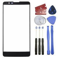 """Black Outer Front Screen Glass Lens Replacement for LG Stylo 2 Plus K550 5.7"""""""