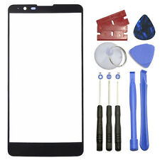 Black Outer Front Screen Glass Lens Replacement for LG Stylo 2 Plus K550 5.7""