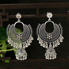 Indian Jhumka Gypsy Jewelry Sliver Gift Boho Vintage Ethnic Womens Drop Earrings