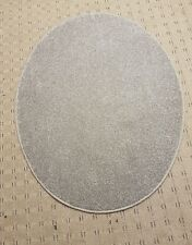 Carpet Rug 88cm x 112cm grey thick pile saxony hessian back oval rugs mat new