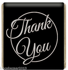 Black Thank You Neapolitan Milk Chocolates Favours Individual small chocolate