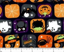 """2 yards """"Halloween Character Squares"""" Fabric"""