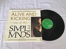 """SIMPLE MINDS ALIVE AND KICKING SPECIAL AUSTRALIAN LTD ED TOUR 1985 PRESS 12"""" EP"""