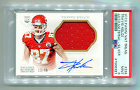 TRAVIS KELCE 2013 Panini National Treasures Rookie RC Auto Patch RPA 13/99 PSA 9