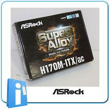 Placa base MiniITX miTX H170 ASRock H170M-ITX/AC ddr4 Socket 1151 con Accesorios