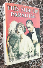 This Side of Paradise, 1920 First Edition, F.Scott Fitzgerald, Scribner's