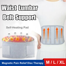 Self Heating Back Support Brace Belt Lumbar Lower Waist Magnetic Pain Relie D1