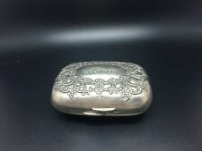 Tiffany & Co. Antique Sterling Repousse Monogrammed  Box