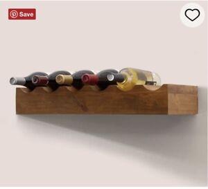 Pottery Barn Rustic Wood Shelf : Wine Bottle (vintage Spruce)