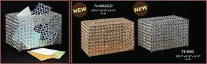 Metal Acrylic Crystal Donation Contribution Fundraiser Gift Money Box Gold Silve