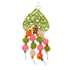 Non-toxic Bird Chewing Colorful Rattan Ball Toy for Parrot Cage Decorating