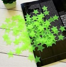 200PCS 3D Stars Glow The Dark Wall Stickers For Kids Bedroom Ceiling Home Decor