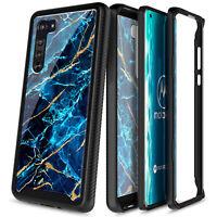 For Motorola Moto Edge 5G Case Full Body Protection Marble Bumper Phone Cover