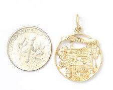 10k Yellow Gold Winnipeg Fort Garry Gate Charm Necklace Pendant