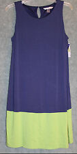 Peter Nygard - Navy / Lime Green Two-Tone Sundress - Size L