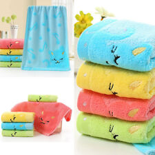 Soft Bamboo Fiber Cotton Strong Water Absorbent Child Cute Cat Towel Bath Shower