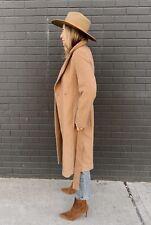 H&M TIE BELT COAT Belted CAMEL Brown Dark Beige POPULAR SOLD OUT STYLE