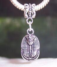 Tutankhamun Mask Egyptian Pharaoh Egypt Dangle Bead for European Charm Bracelets