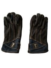Men's Arterial Perforated Leather & Denim Gloves 98119-20VM