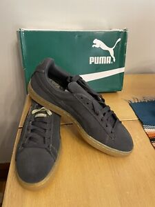 New Puma Classic Suede Dark Shadow And Gold Sneakers 9