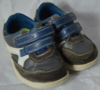 Clarks Baby Leather Blue Toddler Trainer Shoe Size UK 3.5 G
