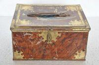 Vintage Blue Bird Chocolate Varieties Ad Litho Tin Box , England