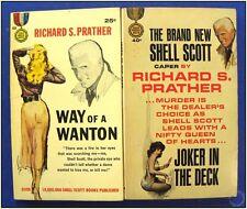 Way of a Wanton & Joker In The Deck, Prather Shell Scott Pulp Fiction Novel Set