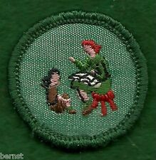 GIRL SCOUT BADGE - STORYTELLER - CHEESECLOTH BACK - FREE SHIPPING