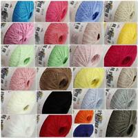 Sale New 1 Ball x 50gr Soft Cotton Thread Yarn Crochet Lace Jewelry Knitting