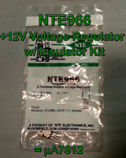 NTE966 - 12V Voltage Regulator with Insulator Kit = 7812, Qty 10