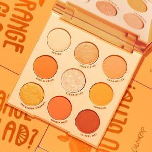 Colourpop Orange You Glad 9 Pan Eyeshadow Palette Monochromatic Zesty Shades NIB