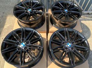 "Genuine BMW 17"" 207M Alloy Wheels: Gloss Black E46 E81 E82 E85 E87 E88 F20 F22"