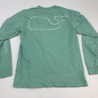 Vineyard Vines T Shirt Men's XS Long Sleeve Green Graphic Logo Casual Cotton