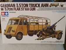 Tamiya 1/35 German 3.5t Truck AHN w/3.7cm Flak 37 AA Gun Model Tank Kit #32410