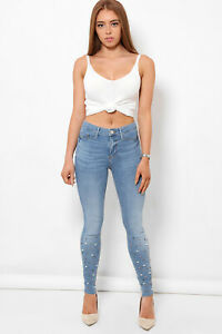 SKINNY JEANS JEGGINGS MID WAISTED WOMENS X RIVER ISLAND MOLLY AMELIE COLLECTION