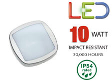 Brackenheath iSpot OUTDOOR WALL LIGHT 10W LED Driverless Bulkhead - WHITE BRIGHT