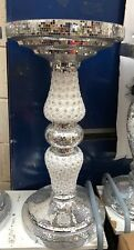 BEAUTIFUL Silver PEARL Mosaic Side Table Modern Stands Bed Sparkle Mirror Romany