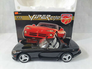 Anson JRL Collectibles, Viper RT10, 1.12 Scale, 30318-W, Diecast, Black, RARE