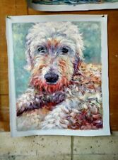 Hand Painted Commission Dog Portrait Oil Painting From Photo ,  Custom Pet Art