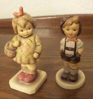 Vintage Hummel Goebel Boy & Girl Figurines Girl with Basket #479 & Boy #630