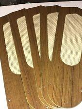 Vintage Ceiling Fan Blades Teak With Cane Insert Reversible 2 5/8 X 2 5/8 X 31/2