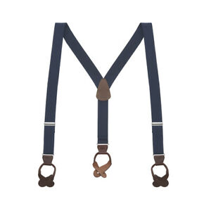 Y-Back Button Suspenders - 1.25 Inches Wide